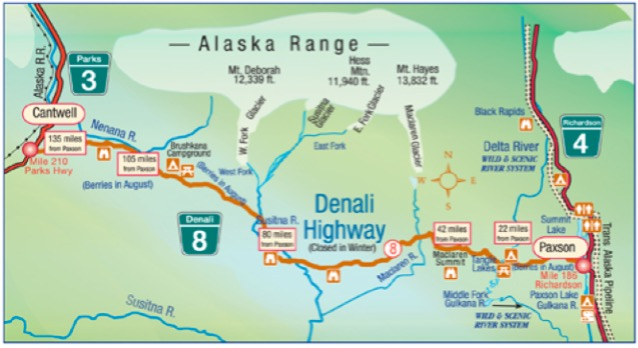 Towns South Of Denali National Park - Mt mckinley on us map