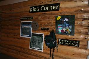 Denali Park junior ranger program corner